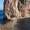 Percé Rock at low tide - not quite low enough to cross over!