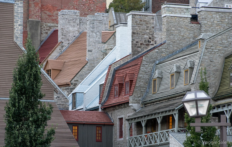 Chimneys and roofs in Old Quebec City