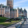The Chateaux Frontenac seen from the Dufferin Terrace broadwalk.