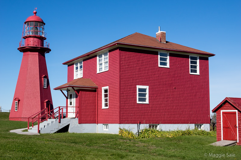 Lighthouse and buildings at La Martre