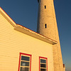 Lighthouse at first light at Cap-des-Rosiers