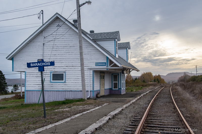 Abandoned railway station in Barachois