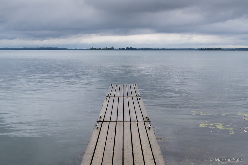 Jetty at Thousand Islands Park office, near Gananonque