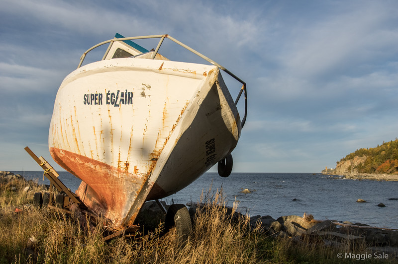 Old boat at Tourelle