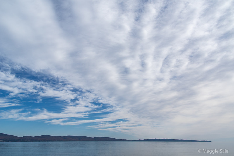 Another view across the bay - clouds clearing!