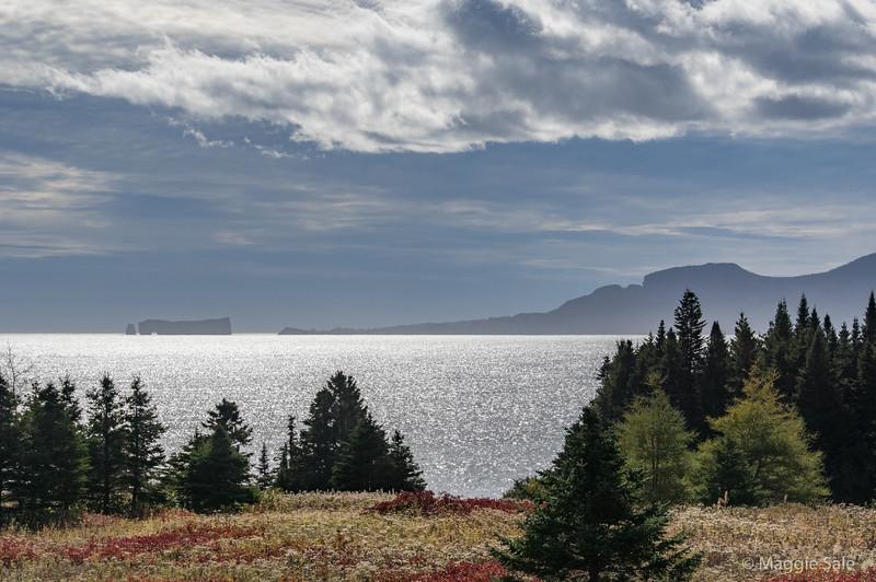 View across bay to Percé rock near Belle-Anse
