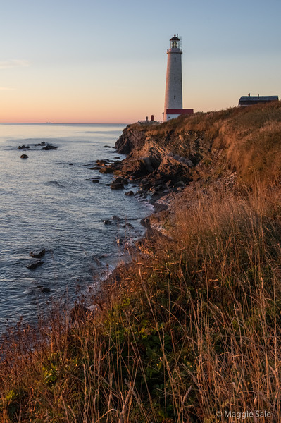 Lighthouse at sunrise at Cap-des-Rosiers