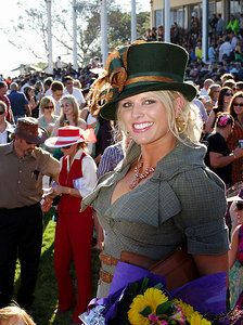 29 JUL 2006 TOWNSVILLE, QLD - Fashions on the Field main winner Donna Wheeler at the Jupiters Townsville Cup Race Day - PHOTO: CAMERON LAIRD