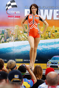 15 JUL 2006 TOWNSVILLE, QLD - Motorsport fans converged on Townsville's Entertainment & Convention Centre for the launch of the Lexmark Indy 300.  2006 Miss Indy contestant Sarah Gleeson - PHOTO: CAMERON LAIRD