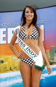 15 JUL 2006 TOWNSVILLE, QLD - Motorsport fans converged on Townsville's Entertainment & Convention Centre for the launch of the Lexmark Indy 300.  2005 Miss Indy Australia winner Jana Peterson - PHOTO: CAMERON LAIRD