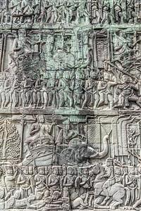 Intricate Carvings at Angkor Wat