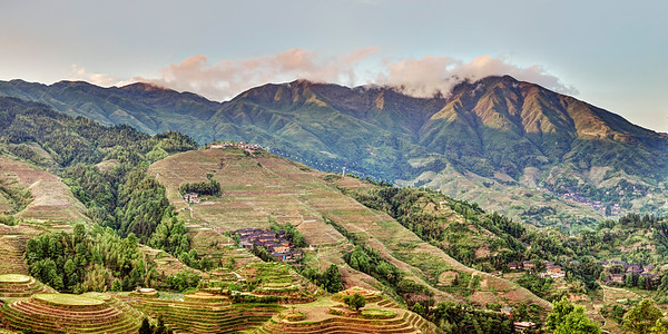 Longji Rice Terraces Panorama 3