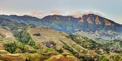 Longji Rice Terraces Panorama 3