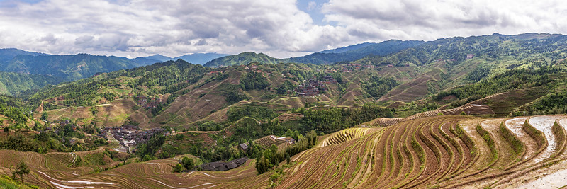 Longji Rice Terraces Panorama 1