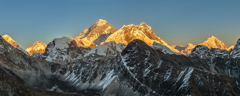 Mount Everest at Sunset