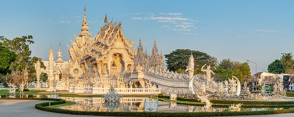 White Temple Sunrise Panorama