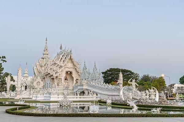 Dusk at Wat Rong Khun