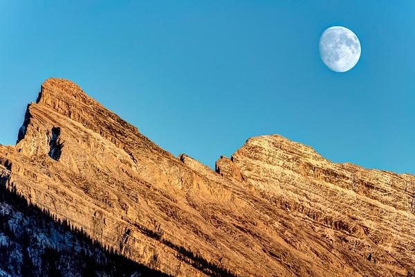 Rising Moon at Banff
