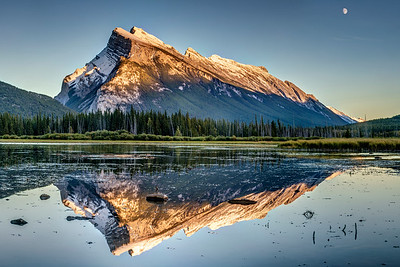 Sunset Reflection at Mount Rundle