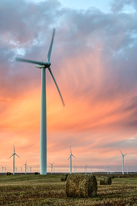 Colorado Turbines at Sunset (Portrait)