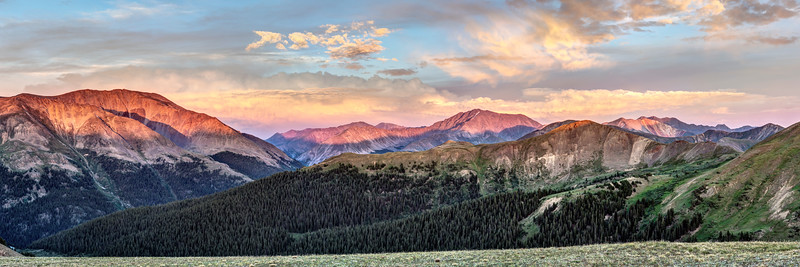 Sunset Panorama from Independence Pass