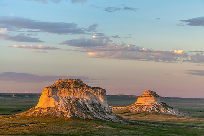Pawnee Buttes at Sunset