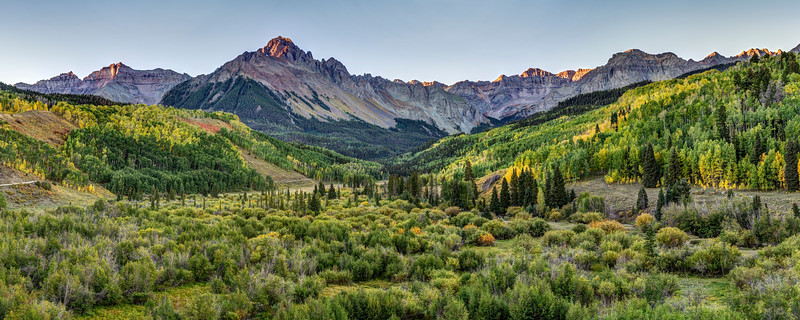 Mount Sneffels and the East Dallas Valley at Sunrise