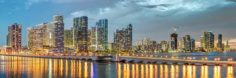 Miami and the Venetian Causeway Bridge