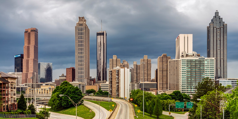 Atlanta from the Jackson Street Bridge