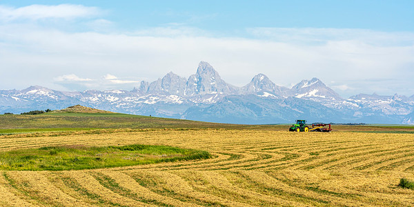Farmland and Tetons