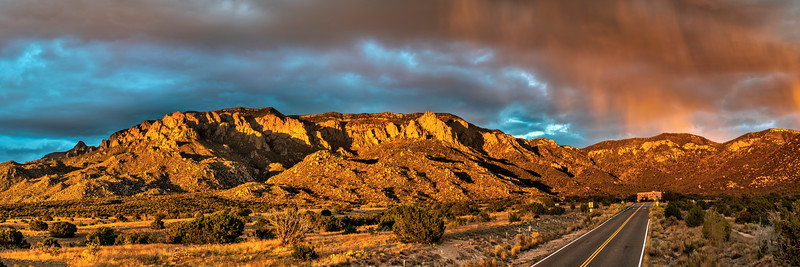 Sandia Mountains Sunset Panorama