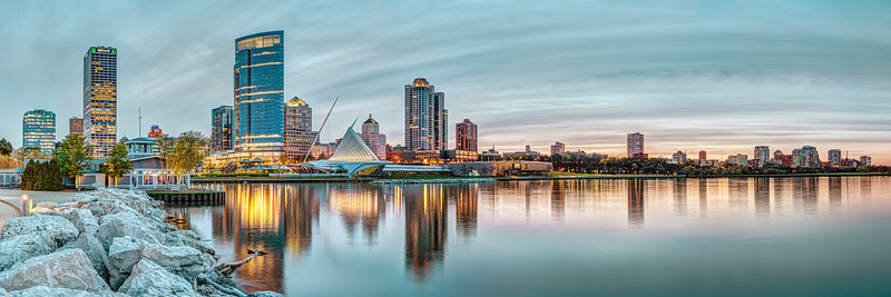 Milwaukee Sunset Panorama