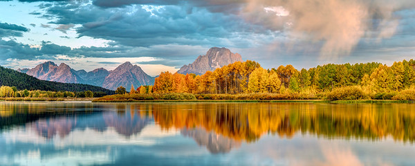 Autumn Sunrise at Oxbow Bend