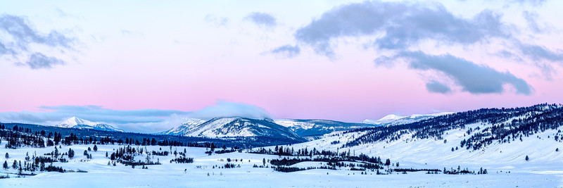 Pastel Morning in Yellowstone