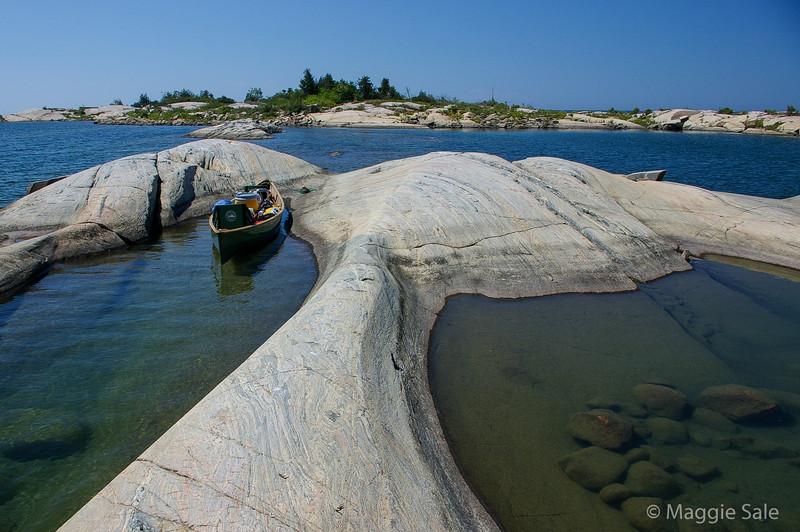 Canoe and Rocks