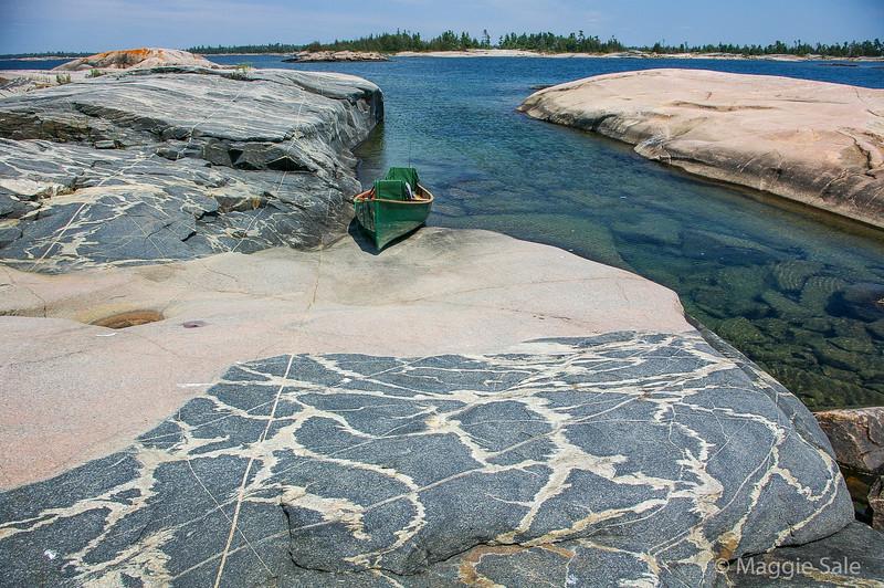Canoe near Churchill Islands