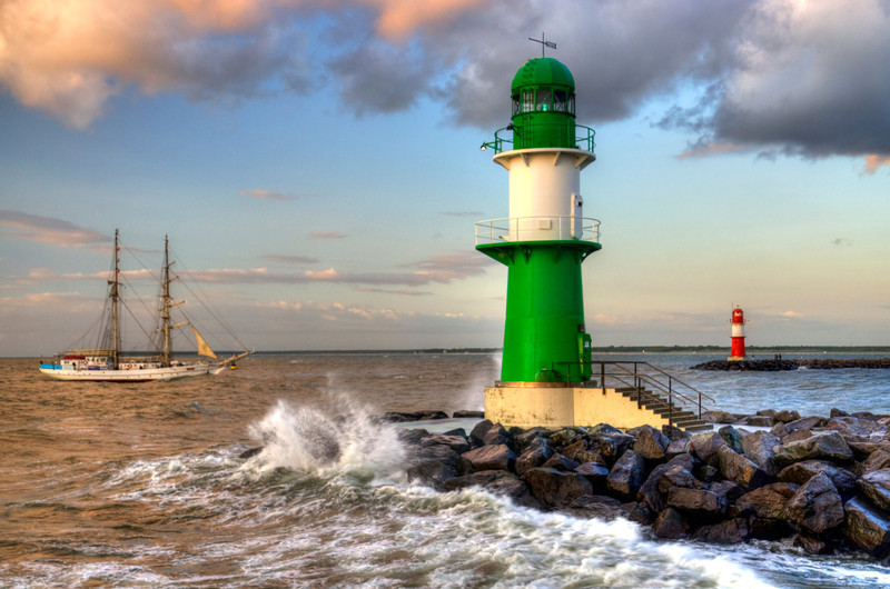 Lighthouse in Warnemunde, Germany