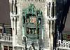 Glockenspiel (Carillon) - consisting of two revolving platforms with 32 life-sized figurines, enacting two 16th century stories - located on the Neues Rathaus Turm (New Town Hall Tower) - Munich