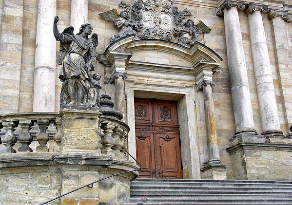 Portal of the Michaelskirche (Church of St. Michaels) - also called the Michaelsberg Abbey - Bamberg