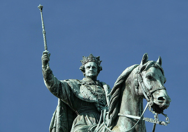 Equestrian statue of Ludwig I - at the Odeonplatz - Munich - he was the German king of Bavaria, from 1825 until the 1848 revolutions in the German states.