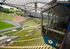 From the Press Box - to the bleachers under the canopy of the Olympiastadion (Olympic Stadium) - site of the XX Summer Olympics, in 1972 - Munich