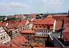 Traditional clay tile roofs of Bamberg