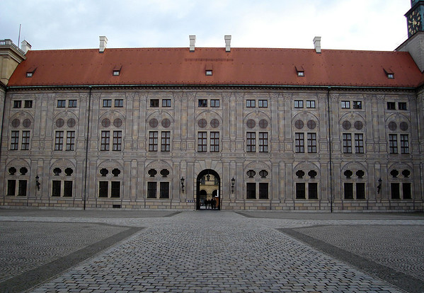 Kaiserhof (Emperor's Court) - the buildings around this court were erected from 1612-1618, in the reign of Duke Maximilian l - at the Münchner Residenz (Munich Residence) - Munich