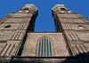 Up the 325 ft. (99 m) brick towers and copper domes of the Frauenkirche (Church of Our Lady) - Munich