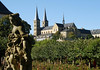 From the statues in the rose garden at the Neue Residenz (New Residence) - to the St. Michaels Church - Bamberg