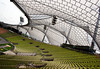 Bleachers under the canopy of the Olympiastadion (Olympic Stadium) - site of the XX Summer Olympics, in 1972 - Munich