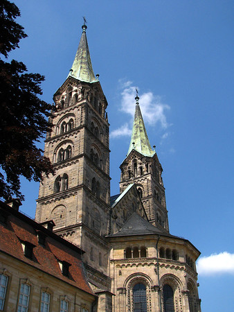 Aspe and towers of the Imperial Cathedral of St. Peter and St. George - Bamberg