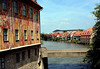 From the baroque style allegoric wall murals of the Althes Rathus (Old Town Hall) - across the Untere Brücke (lower bridge, an iron bridge constructed in 1858) - down the Regnitz River - to the Klein Venedig (Little Venice) - Bamberg