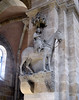 Bamberg Rider (Bamberger Reiter) - a life-sized stone equestrian statue on the stone pillar of the choir, in the Imperial Cathedral - neither the sculptor nor the rider is know - Bamberg