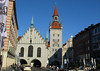 Altes Rathaus Turm (Old Town Hall Tower) - was completely destroyed by fire in 1460, and was rebuilt in Gothic style and completed in 1480 - then completely destroyed during WW ll, and rebuilt afterwards following the original 15th century plans - Munich